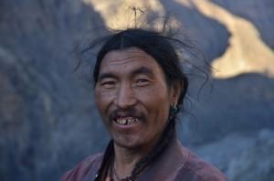 Luc - habitant du Dolpo dans le village de Terang (Nepal)