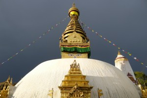 Mireille - Temple de Swayambhutnah à kathmandou (Népal)