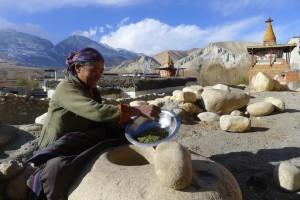 Mireille - Village de Tsarang au Mustang (Népal)